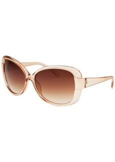 Kenneth Cole Reaction Women's Oversize Translucent Beige Sunglasses