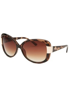 Kenneth Cole Reaction Women's Oversize Translucent Tortoise Sunglasses