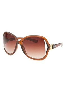 Kenneth Cole Reaction Women's Oversized Translucent Brown Sunglasses