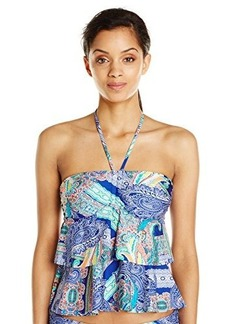 Kenneth Cole Reaction Women's Paisley Intuition Tiered Tankini
