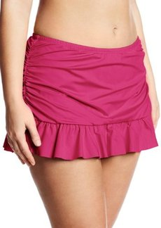 Kenneth Cole Reaction Women's Plus-Size Ruffle-Licious Skirted Bikini Bottom