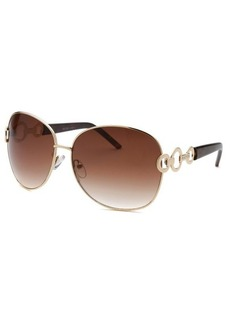 Kenneth Cole Reaction Women's Round Gold-Tone Sunglasses