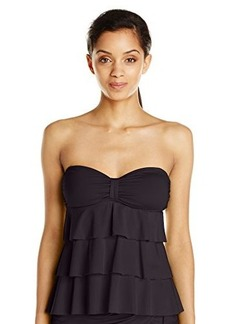 Kenneth Cole Reaction Women's Ruffle-Licious Tiered Tubini Top