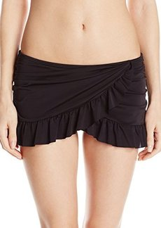 Kenneth Cole Reaction Women's Ruffle-Licous Asymmetric Skirted Bikini Bottom