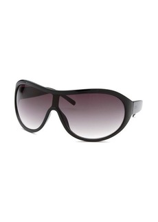 Kenneth Cole Reaction Women's Shield Black Sunglasses