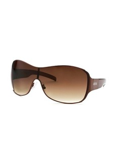 Kenneth Cole Reaction Women's Shield Brown Sunglasses