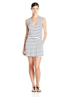 Kenneth Cole Reaction Women's Skyline Stripe Sleeveless Hoodie