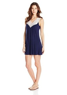Kenneth Cole Reaction Women's Solid Crochet My Way Coverup Dress