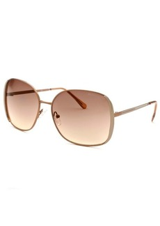 Kenneth Cole Reaction Women's Square Bronze-Tone Sunglasses