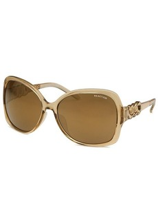 Kenneth Cole Reaction Women's Square Champagne Sunglasses