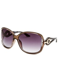 Kenneth Cole Reaction Women's Square Transparent Brown Sunglasses