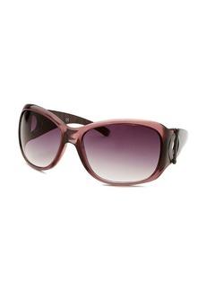 Kenneth Cole Reaction Women's Square Transparent Purple Sunglasses