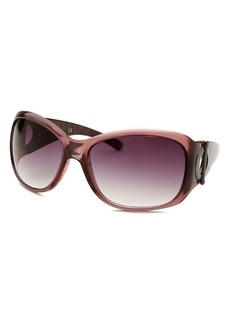 Kenneth Cole Reaction Women's Square Transparent Purple Sunglasses