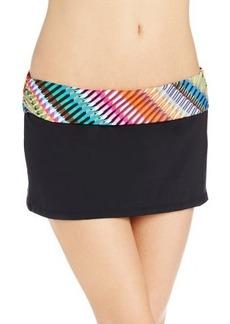 Kenneth Cole Reaction Women's Sun Sational Stripes Sash Skirted Bottom