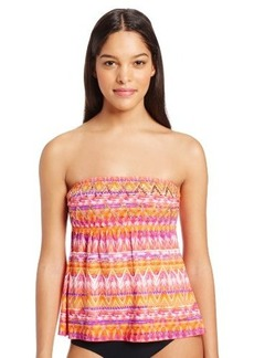 Kenneth Cole Reaction Women's Verti-Cool Vibes Bandeau Tankini Top