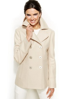 Kenneth Cole Reaction Petite Wool-Blend Peacoat