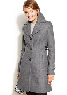 Kenneth Cole Reaction Wool-Blend Side-Buckle Walker Coat