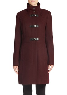 KENNETH COLE REACTION Wool-Blend Toggle Coat