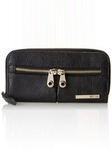 Kenneth Cole Reaction Wooster-Zip Around Clutch Wallet,Black,One Size