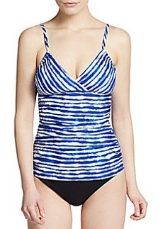 Kenneth Cole Striped Tankini Top