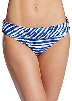 Kenneth Cole Tie-Dyed Stripe Bikini Bottom