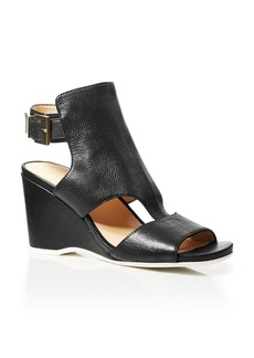 Kenneth Cole Wedge Sandals - Issac Ankle Buckle