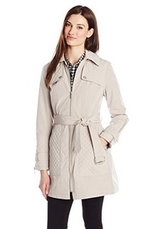 Kenneth Cole Women's Hooded Trench Coat