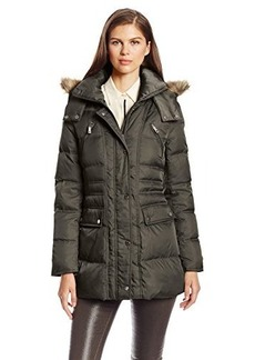 Kenneth Cole Women's Matte Satin Short Down Coat