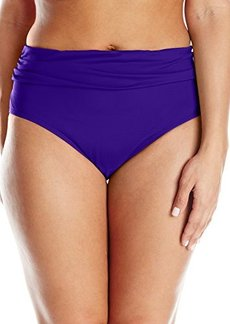 Kenneth Cole Women's Plus-Size Ruffle-Licous Sash Hipster Bikini Bottom
