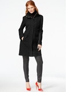 Kenneth Cole Zip-Cuff Wool Walker Coat