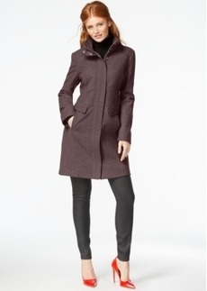 Kenneth Cole Zip-Cuff Wool Walker Coat
