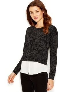 Kensie Animal Layered-Look Sweatshirt