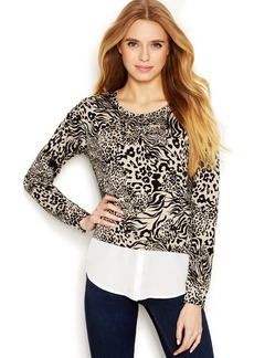 Kensie Animal Layered-Look Sweatshirt