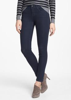 kensie 'Ankle Biter' Skinny Jeans (Black Metal)