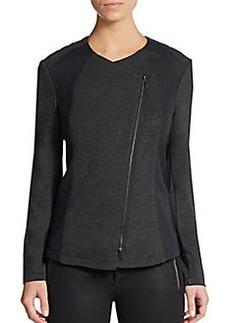 Kensie Asymmetrical Ponte Jacket