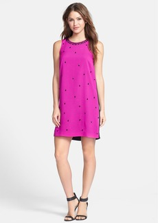 kensie Beaded Colorblock Shift Dress
