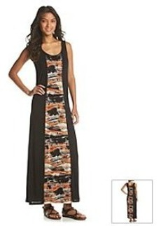 Kensie® Blurry Brush Strokes Maxi Dress