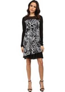 kensie Blurry Leaves Dress