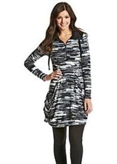 Kensie® Blurry Stripes Drapey Dress