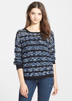 kensie 'Bobble' Stripe Space Dye Sweater