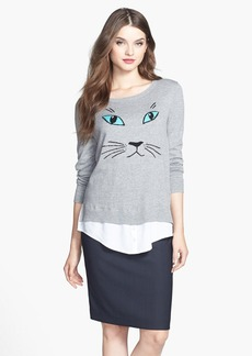 kensie 'Cat' Cotton Blend Sweater (Online Only)
