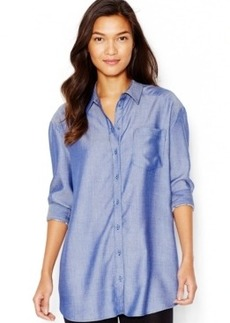 kensie Chambray Tunic Shirt