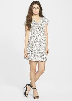kensie Cheetah Print V-Neck Dress