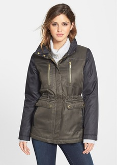 kensie Colorblock Hooded Puffer Coat