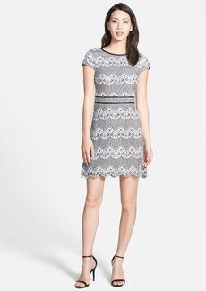 kensie Colorblock Lace Panel Dress