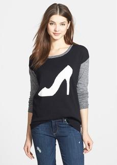kensie Colorblock Mélange Intarsia Sweater