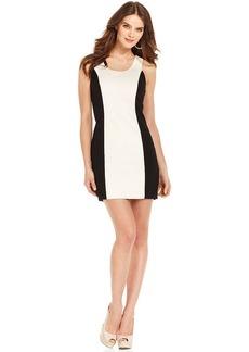 kensie Colorblock Ponte Sheath Dress