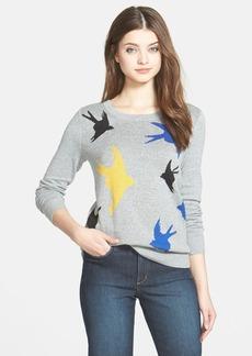 kensie Cotton Blend Bird Sweater