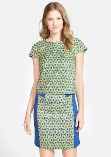 kensie 'Crinkle Daisy' Brocade Shirt