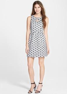 kensie Daisy Brocade Fit & Flare Dress